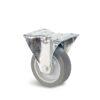 Roulette à platine – De 70 à 200 kg - à platine fixe, 32, 70, 80, 108, Roulette à platine acier, 105x85, 9, à rouleaux, 80x60