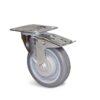 Roulette à platine – De 70 à 100 kg - à platine pivotante à double blocage, 32, 70, 80, 108, 41, 105x85, 9, à billes, 80x60