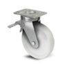Roulette à platine – 600 à 1200 kg - à platine pivotante à double blocage, 45, 750, 125, 177, 52, 150x110, 13, à billes, 105x80