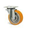 Roulette à platine – 400 kg - à platine pivotante, 50, 400, 125, 164, 50, 135x110, 11, à billes, 105x80