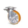 Roulette à platine – 400 kg - à platine pivotante à double blocage, 50, 400, 100, 140, 45, 135x110, 11, à billes, 105x80