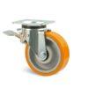 Roulette à platine – 400 kg - à platine pivotante à double blocage, 50, 400, 125, 164, 50, 135x110, 11, à billes, 105x80