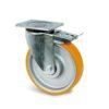 Roulette à platine – 500 à 800 kg - à platine pivotante à double blocage, 50, 500, 125, 164, 55, 135x110, 11, à billes, 105x80