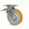 Roulette à platine – 400 à 600 kg - à platine pivotante à simple blocage, 50, 400, 100, 143, 35, 138x110, 11, à billes, 105x80