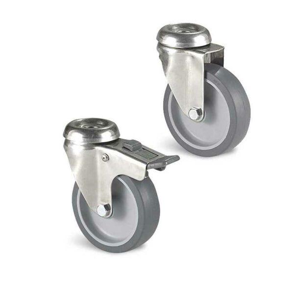Roulette à trou central – 40 à 80 kg