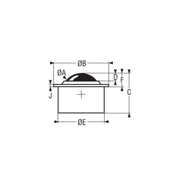 Billes à socle cylindrique épaulé – de 5 à 610 kg