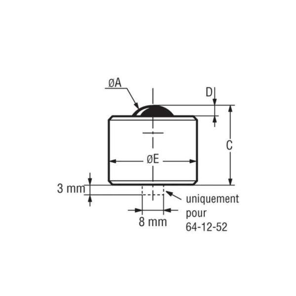 Billes à socle cylindrique – de 750 à 4000 kg
