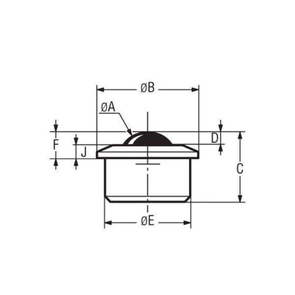 Billes à socle cylindrique épaulé – de 60 à 1500 kg