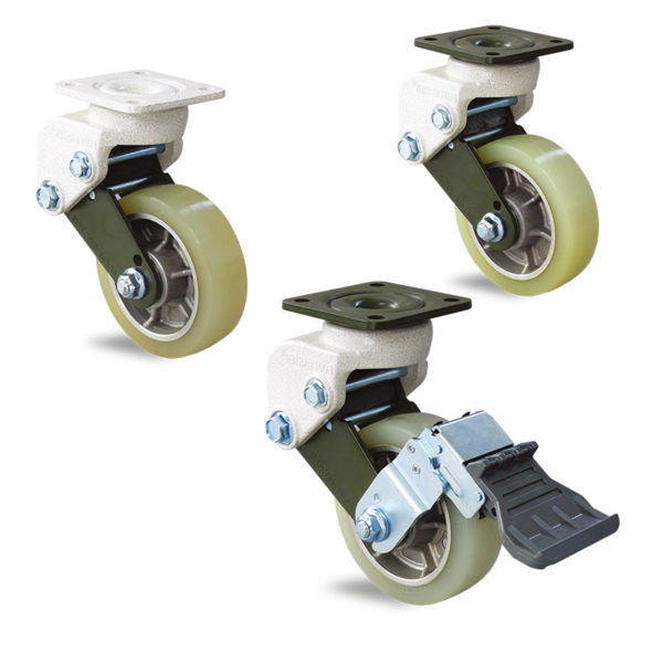 Roulette à suspension sur tampons - jusqu'à 150 kg